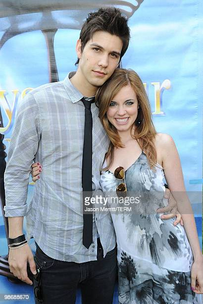 Actor Casey Deidrick and actress Molly Burnett pose during the NBC Universal Summer Press Day Days Of Our Lives after party on April 26 2010 in...