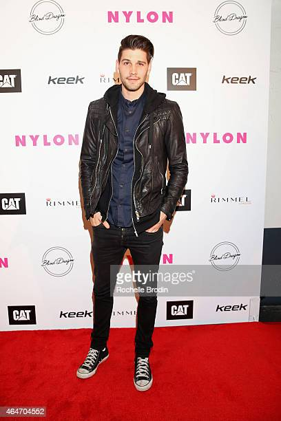 Actor Casey Deidrick attends NYLON Magazine's Spring Fashion Issue Celebration hosted by Rita Ora at Blind Dragon on February 27, 2015 in West...