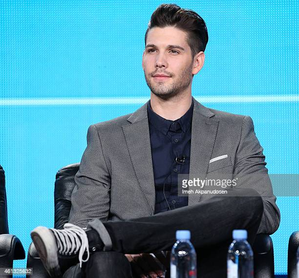 Actor Casey Deidrick speaks onstage during the Viacom Winter Television Critics Association press tour at The Langham Huntington Hotel and Spa on...