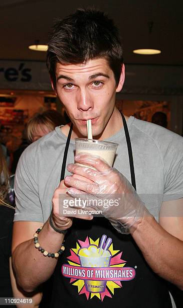 Actor Casey Jon Deidrick attends Days Of Our Lives cast members celebrating 45 years on TV with anniversary shakes at Millions of Milkshakes on March...