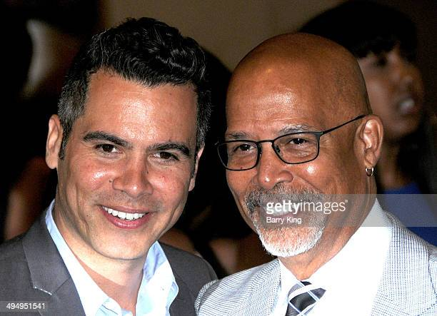Actor Cash Warren and his actor Michael Warren arrive at The Helping Hand Of Los Angeles Mother's Day Luncheon on May 9, 2014 at The Beverly Hilton...
