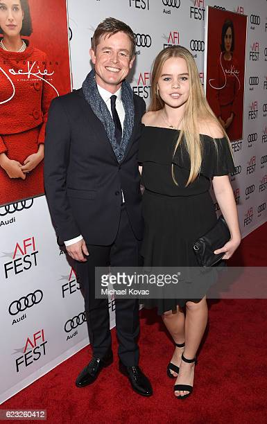 Actor Caspar Phillipson and guest attend the premiere of 'Jackie' at AFI Fest 2016 presented by Audi at The Chinese Theatre on November 14 2016 in...