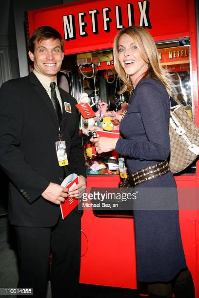 Actor Casper Van Dien and actress Catherine Oxenberg at the Access Hollywood Stuff You Must Lounge Presented by On 3 Productions at Sofitel Hotel on...