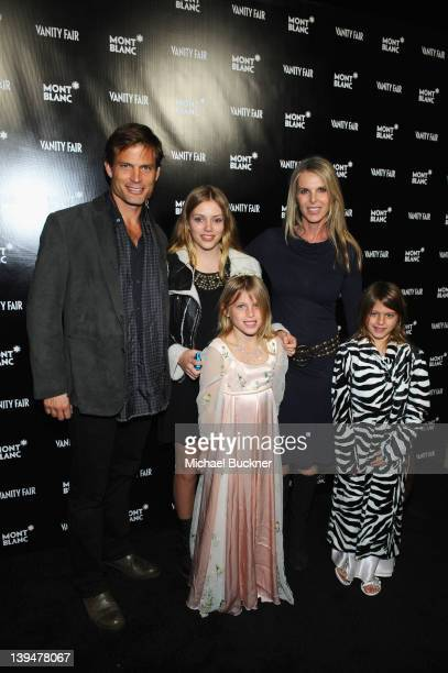 Actor Casper Van Dien and Catherine Oxenberg with family attends the Vanity Fair Montblanc party celebrating The Collection Princesse Grace de Monaco...