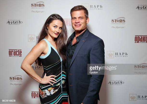 Actor Casper Van Dien and girlfriend Jennifer Wenger attend a party to celebrate the end of 'Oracle' filming at the 'Angelo' restaurant on April 29...