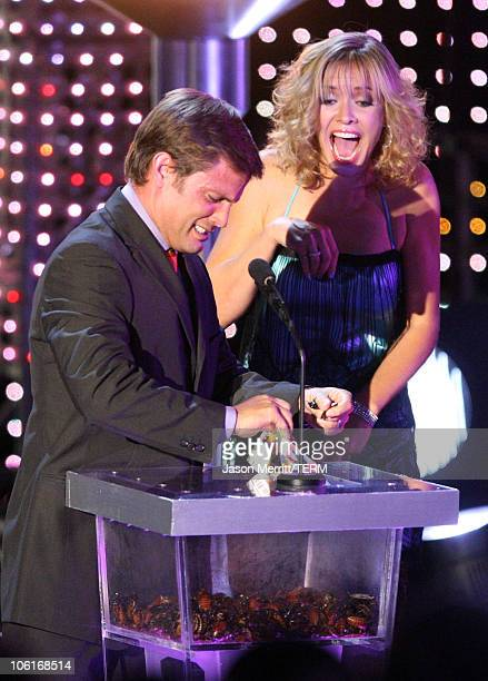 Actor Casper Van Dien and Kristanna Loken present the Best Cameo Award during the 2007 Spike TV Scream Awards at The Greek Theater on October 19 2007...