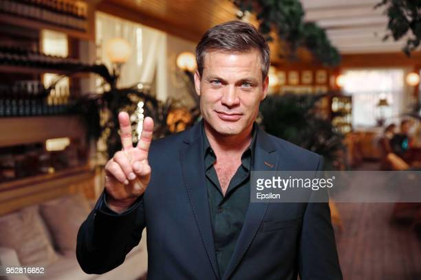 Actor Casper Van Dien attends a party to celebrate the end of 'Oracle' filming at the 'Angelo' restaurant on April 29 2018 in Moscow Russia