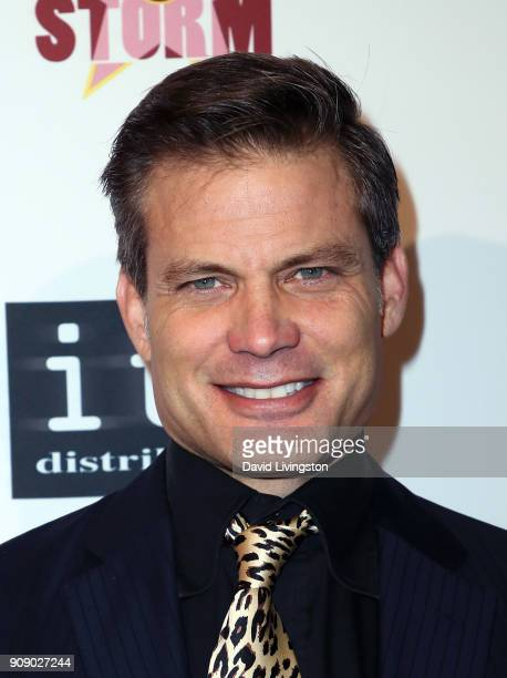 Actor Casper Van Dien attends the premiere of ITN Distribution's Showdown in Manila at Laemmle's Ahrya Fine Arts Theatre on January 22 2018 in...