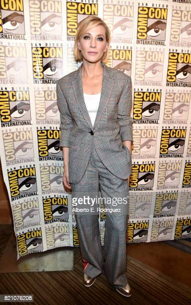 Actor Cate Blanchett from Marvel Studios' 'Thor Ragnarok' at the San Diego ComicCon International 2017 Marvel Studios Panel in Hall H on July 22 2017...