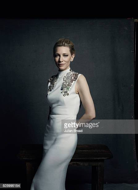 Actor Cate Blanchett is photographed for Harpers Bazaar on October 8 2015 in London England