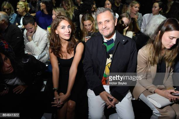 Actor Caterina Murino and actor Jean Charles de Castelbajac attend the Lanvin show as part of the Paris Fashion Week Womenswear Spring/Summer 2018 on...