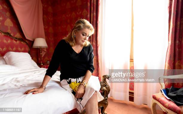 Actor Catherine Deneuve is photographed for Paris Match at the 76th Mostra Venice 2019 on August 29, 2019 in Venice, Italy.