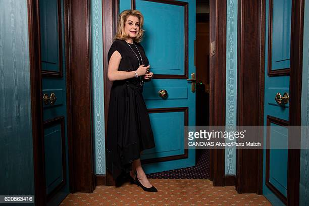 Actor Catherine Deneuve is photographed for Paris Match on October 26 2016 in Paris France