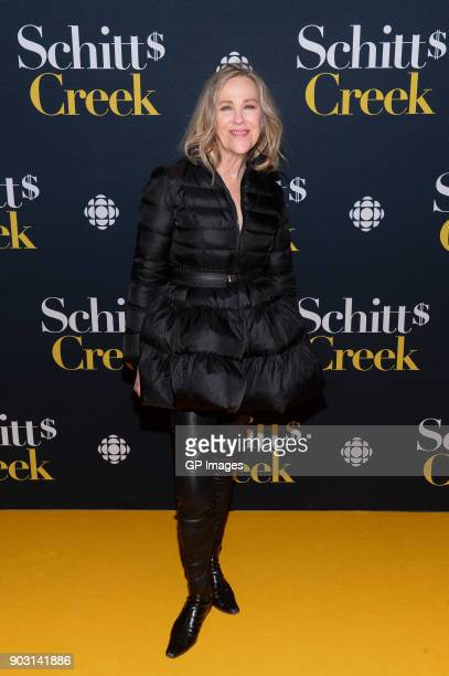 Actor Catherine O'Hara attends the 'Schitt's Creek' Season 4 premiere at TIFF Bell Lightbox on January 9 2018 in Toronto Canada