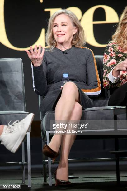 Actor Catherine O'Hara of 'Schitt's Creek' speaks onstage during the POPTV portion of the 2018 Winter Television Critics Association Press Tour at...