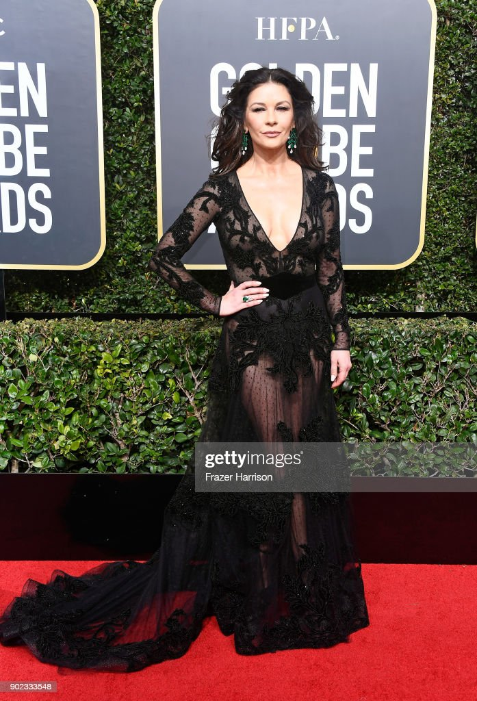Actor Catherine Zeta-Jones attends The 75th Annual Golden Globe Awards at The Beverly Hilton Hotel on January 7, 2018 in Beverly Hills, California.
