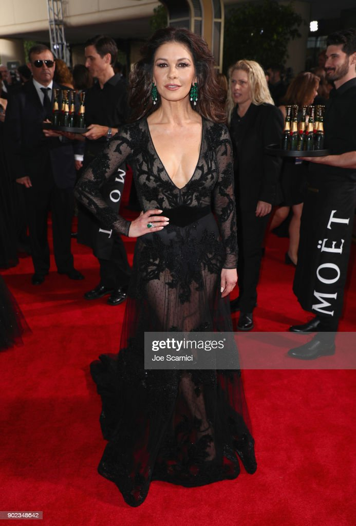 Actor Catherine Zeta-Jones celebrates The 75th Annual Golden Globe Awards with Moet & Chandon at The Beverly Hilton Hotel on January 7, 2018 in Beverly Hills, California.
