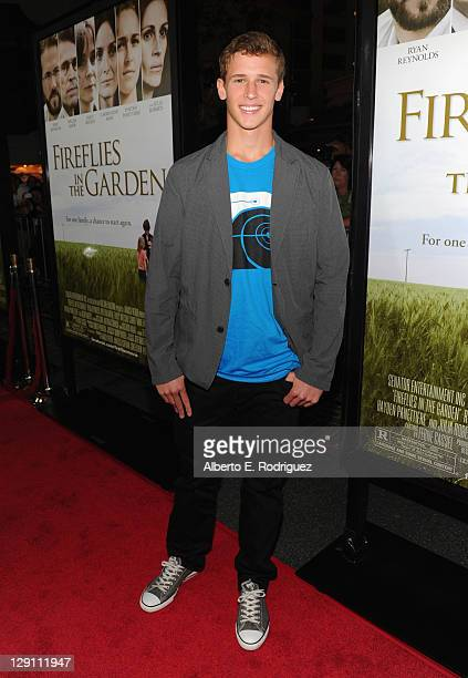 Actor Cayden Boyd arrives at the 'Fireflies In The Garden' Premiere at Pacific Theaters at the Grove on October 12 2011 in Los Angeles California