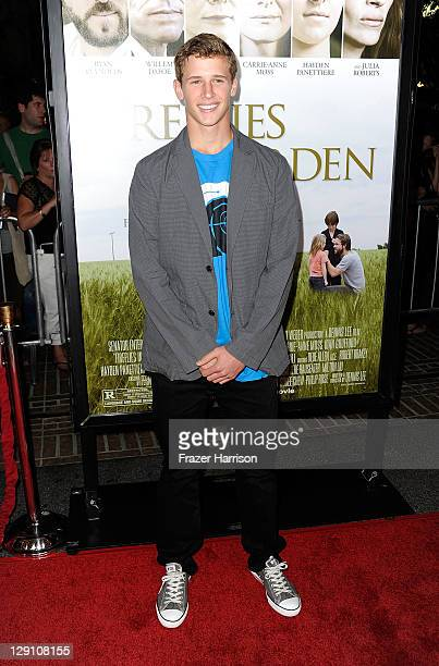 Actor Cayden Boyd arrives at the pemiere of 'Fireflies In The Garden' at the Pacific Theaters at the Grove on October 12 2011 in Los Angeles...