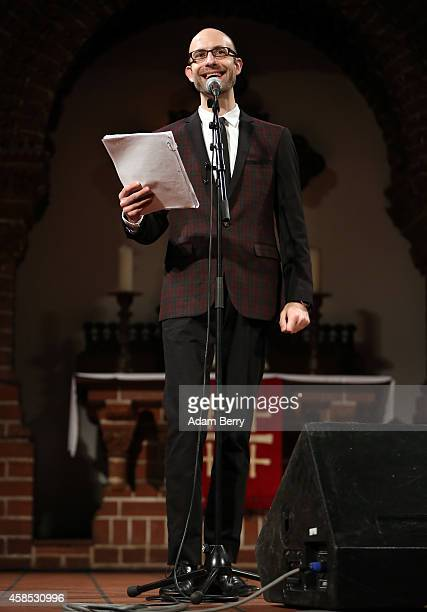 Actor Cecil Baldwin performs a live version of 'The Librarian' episode of his podcast 'Welcome To Night Vale' at the Passionskirche on November 6,...