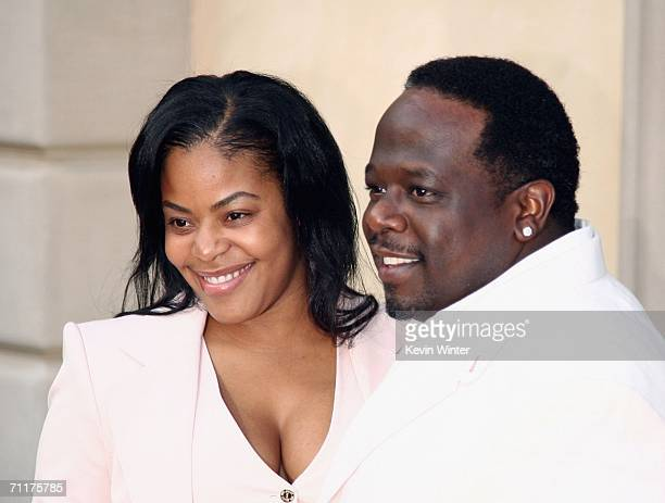Actor Cedric the Entertainer and his wife Lorna arrive at Chrysalis' 5th Annual Butterfly Ball at the home of Fred and Carla Sands on June 10 2006 in...