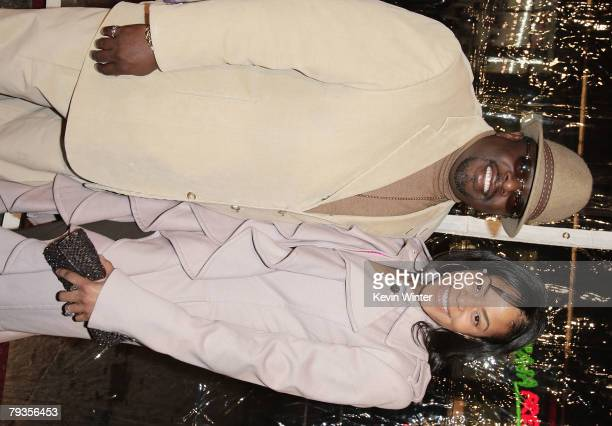 Actor Cedric the Entertainer and his wife Lorna Wells arrive at the premiere of Universal's Welcome Home Roscoe Jenkins at the Chinese Theater on...