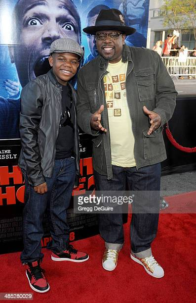 1cb23a0f07041 Actor Cedric the Entertainer and son Croix arrive at the Los Angeles  premiere of A Haunted
