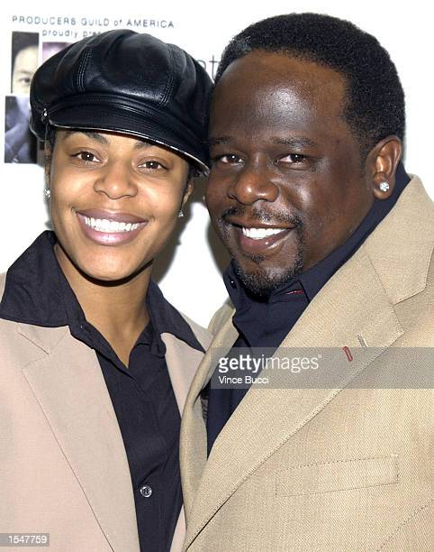 Actor Cedric The Entertainer and wife Lorna attend the Producers Guild of America's inaugural Celebration of Diversity on October 28 2002 in Beverly...