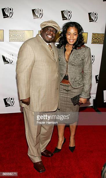 Actor Cedric the Entertainer and wife Lorna Wells arrive at the 11th Annual Critics' Choice Awards held at the Santa Monica Civic Auditorium on...