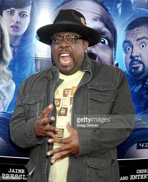 Actor Cedric the Entertainer arrives at the Los Angeles premiere of 'A Haunted House 2' at Regal Cinemas LA Live on April 16 2014 in Los Angeles...