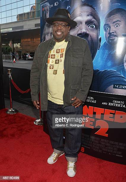 Actor Cedric the Entertainer arrives to the premiere of Open Road Films' 'A Haunted House 2' at Regal Cinemas LA Live on April 16 2014 in Los Angeles...