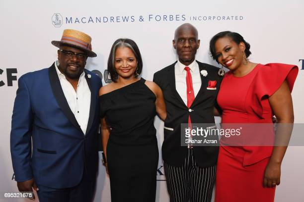 Actor Cedric the Entertainer President and CEO of the Apollo Theater Foundation Joenelle Procope designer Daniel Day and Producer of the Apollo...