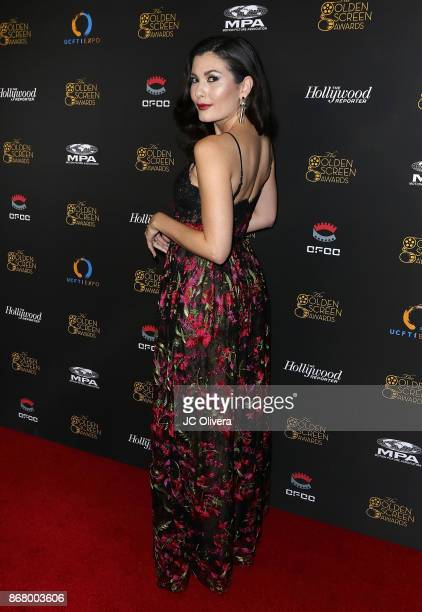 Actor Celeste Thorson attends the 2nd Annual Golden Screen Awards hosted by US China Film and TV Industry Expo at The Novo by Microsoft on October 29...