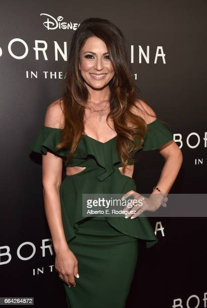 Actor Cerina Vincent attends the Los Angeles premiere of Disneynature's BORN IN CHINA at the Billy Wilder Theater at The Hammer Museum in Westwood CA...