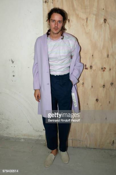 Actor Cesar Domboy attends the Acne Studio Menswear Spring/Summer 2019 show as part of Paris Fashion Week on June 20 2018 in Paris France