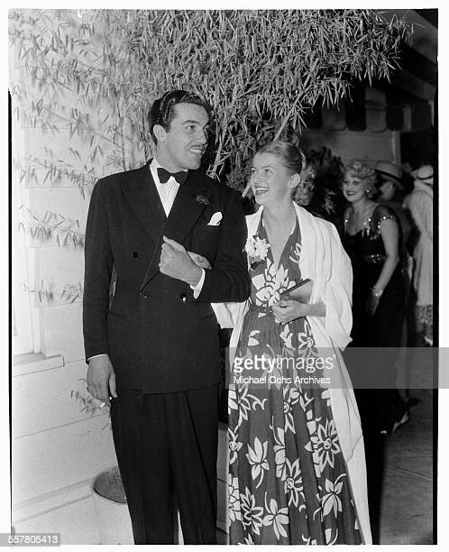 Actor Cesar Romero and actress Virginia Bruce attend an event in Los Angeles California