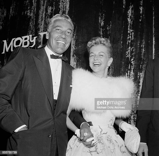 Actor Cesar Romero and Ann Sothern attend the Moby Dick premiere party in Los AngelesCA