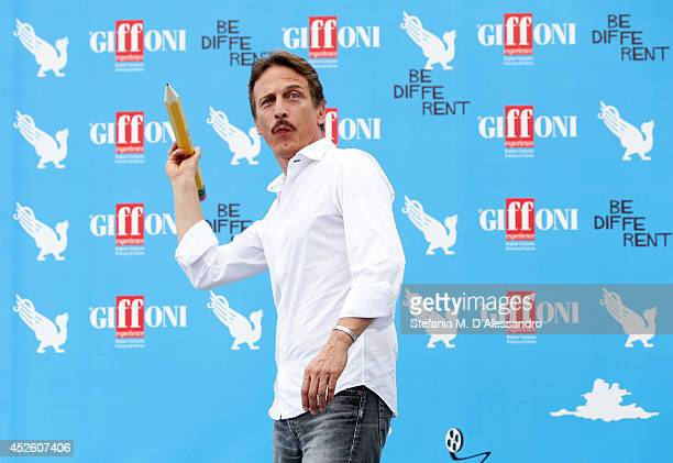 Actor Cesare Bocci attends Giffoni Film Festival photocall on July 24 2014 in Giffoni Valle Piana Italy