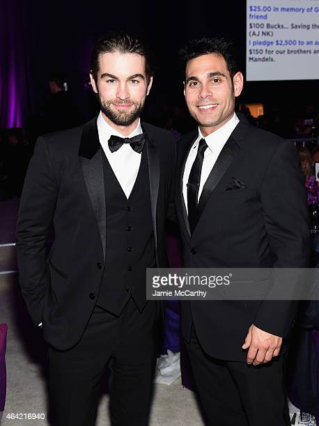 Actor Chace Crawford and manager Eric Podwall attend the 23rd Annual Elton John AIDS Foundation Academy Awards Viewing Party on February 22 2015 in...