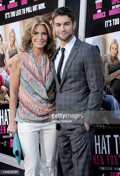 Actor Chace Crawford and mom Dana arrive at the Los Angeles premiere of What To Expect When You're Expecting at Grauman's Chinese Theatre on May 14...