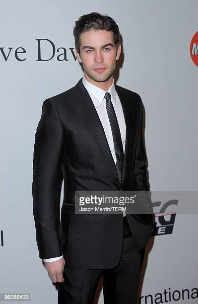 Actor Chace Crawford arrives at the 52nd Annual GRAMMY Awards Salute To Icons Honoring Doug Morris held at The Beverly Hilton Hotel on January 30...