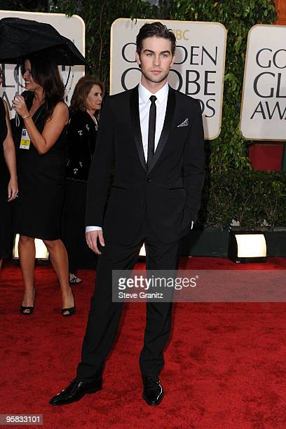Actor Chace Crawford arrives at the 67th Annual Golden Globe Awards at The Beverly Hilton Hotel on January 17 2010 in Beverly Hills California