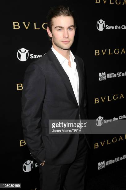Actor Chace Crawford arrives at the Bvlgari private event honoring Simon Fuller and Paul Haggis to benefit Save The Children and Artists For Peace...