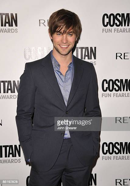 Actor Chace Crawford arrives to Cosmopolitan's 2009 Fun Fearless Awards at SLS Hotel on March 2, 2009 in Beverly Hills, California.
