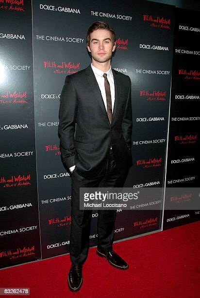 Actor Chace Crawford attends a screening of Filth and Wisdom hosted by The Cinema Society and Dolce and Gabbana at the IFC Center on October 13 2008...