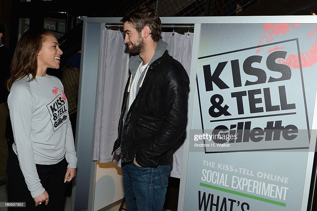 Actor Chace Crawford attends Gillette's Kiss & Tell Live National Experiment and gets the sparks flying by asking women which kiss is best: a kiss with a stubble or smooth shaven skin on February 2, 2013 in New Orleans, Louisiana.