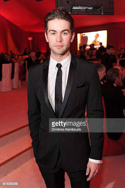 WEST HOLLYWOOD CA MARCH 07 *EXCLUSIVE ACCESS PREMIUM RATES APPLY* Actor Chace Crawford attends the 18th Annual Elton John AIDS Foundation Oscar party...