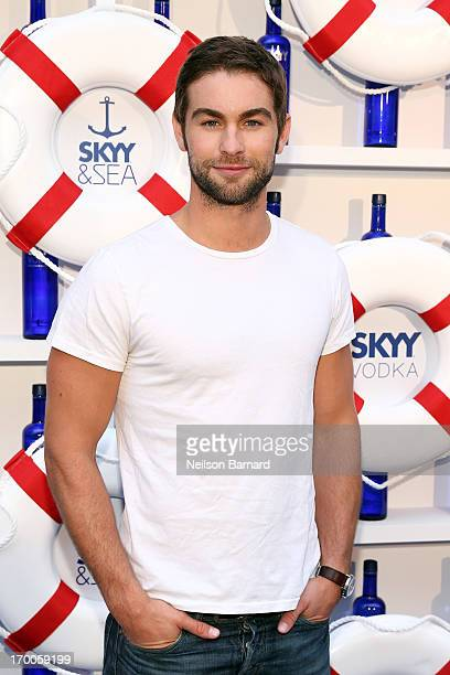 Actor Chace Crawford attends the 2013 Governors Ball music festival official kick off party hosted by SKYY Vodka at Hornblower Infinity on June 6...