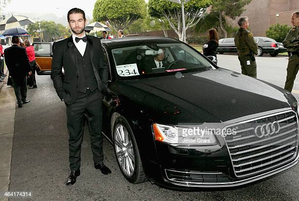 Actor Chace Crawford attends the 23rd Annual Elton John AIDS Foundation Academy Viewing Party in an Audi A8 L TDI on February 22 2015 in Los Angeles...