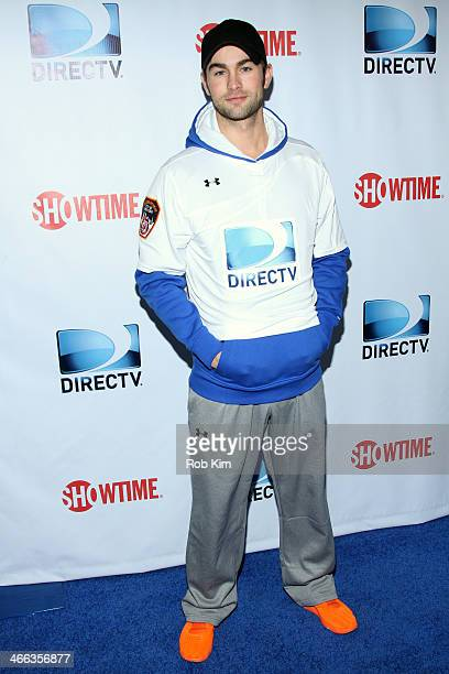 Actor Chace Crawford attends the DirecTV Beach Bowl at Pier 40 on February 1 2014 in New York City